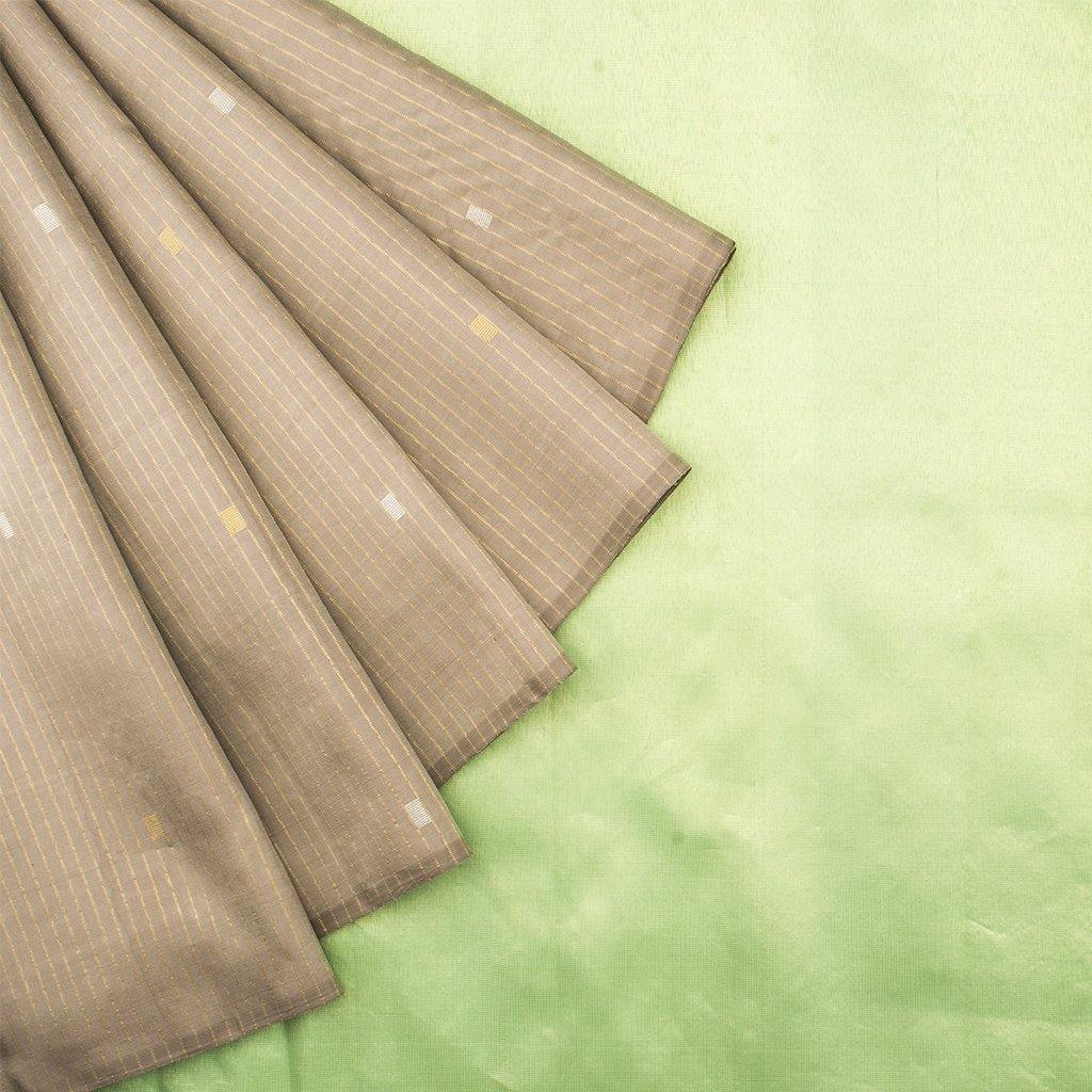 Light Brown Borderless Kanjivaram Silk Handloom Saree-241933 - Singhania's