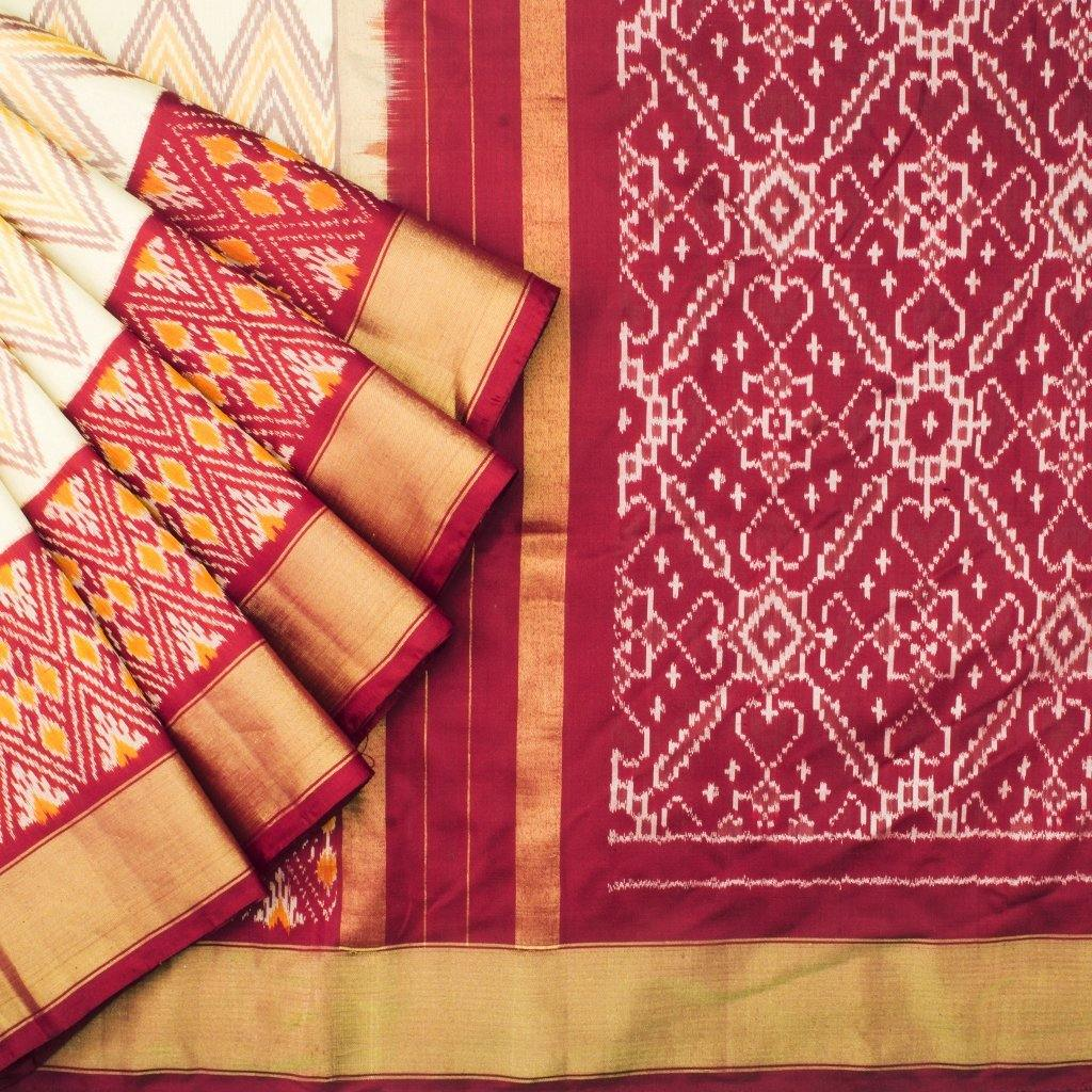 Multicolor Ikkat Silk Handloom Saree-242473 - Singhania's