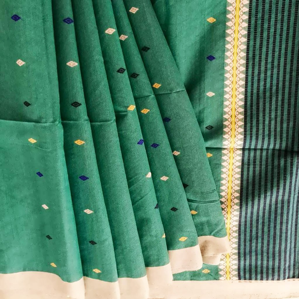 Buy Green cotton bailu Saree