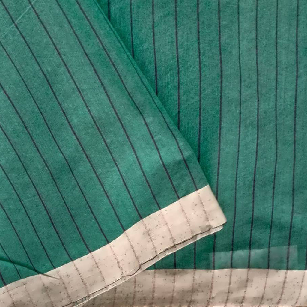Green Handloom Cotton Bailu Saree