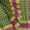 Buy Green Organza Checkered Saree