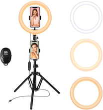 Load image into Gallery viewer, 10 Inch LED Ring Light Kit