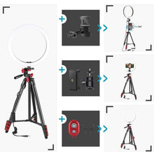 Load image into Gallery viewer, 14 Inch LED Ring Light Multi-Color RGB