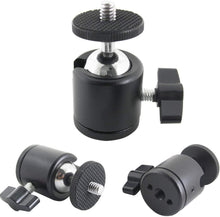 "Load image into Gallery viewer, Hot Shoe Mount Adapter 1/4"" Mini Ball Head Ring Light Adapter"