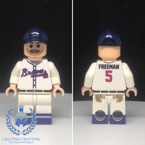 Braves Freddy Freeman #5 Custom Printed Minifigure