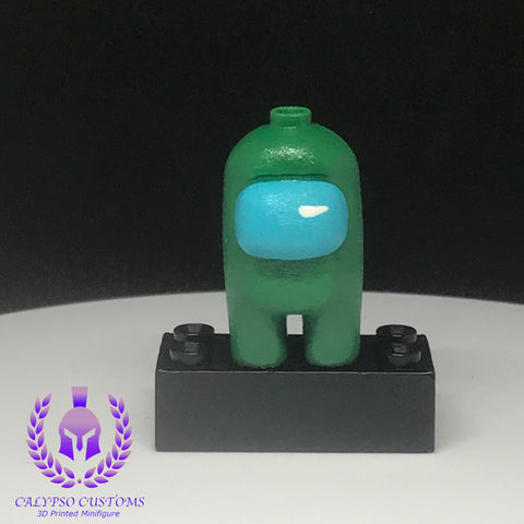 Green Crewmate 3D Printed  Minifigure