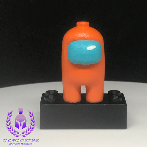 Orange Crewmate 3D Printed  Minifigure
