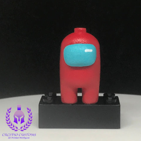 Red Crewmate 3D Printed  Minifigure