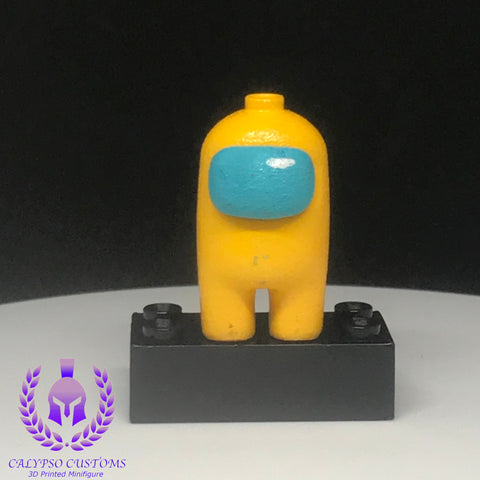 Yellow Crewmate 3D Printed  Minifigure