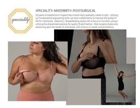 CITRINE speciality lingerie maternity, breastfeeding, nursing bra, post surgical bra, prosthetic bra