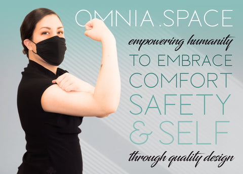 OMNIA mask comfort safety Certified Antimicrobial Fabric Mask