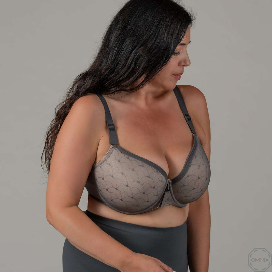 Pearl | T-Shirt FlexyWire Bra - Gray