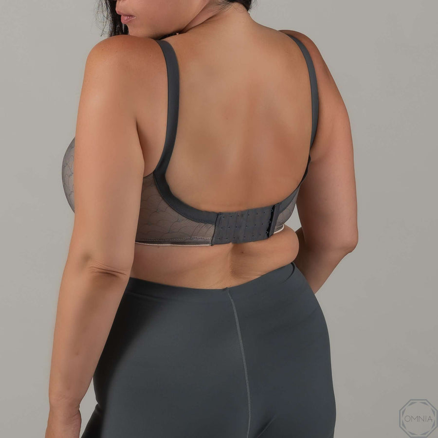 Pearl | T-Shirt Wirefree Bra - Gray