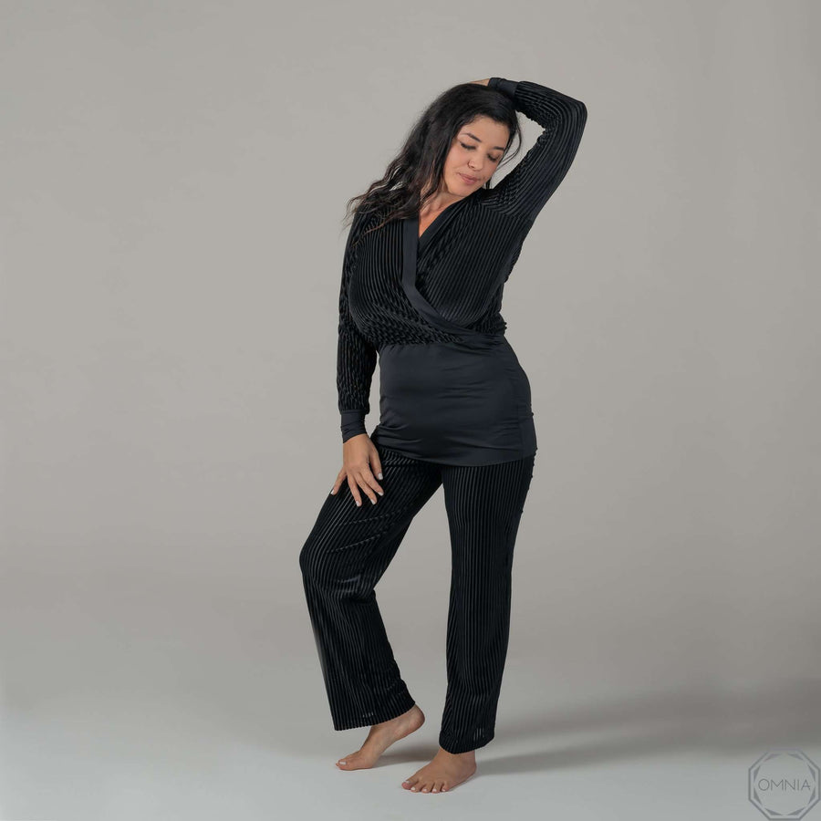 Opal | Straight Long Pant - Black