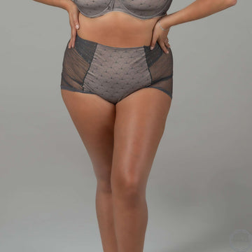 Pearl | High Waist Knickers - Gray