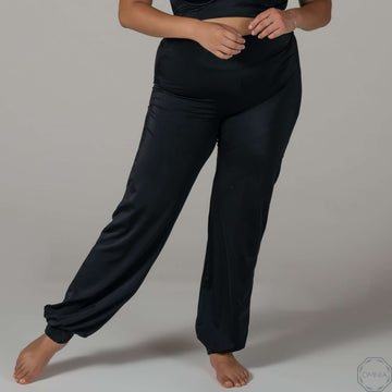 Quartz | High Waist Pant - Black