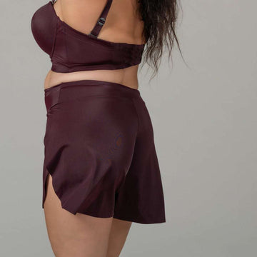 Quartz | High Waist Short - Plum