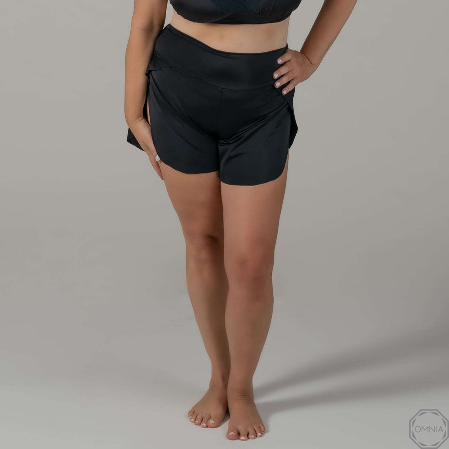 Quartz | High Waist Short - Black