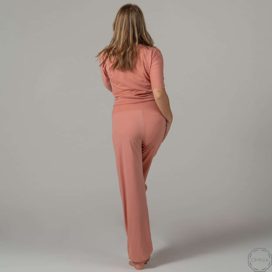 Quartz | High Waist Pant - Rose