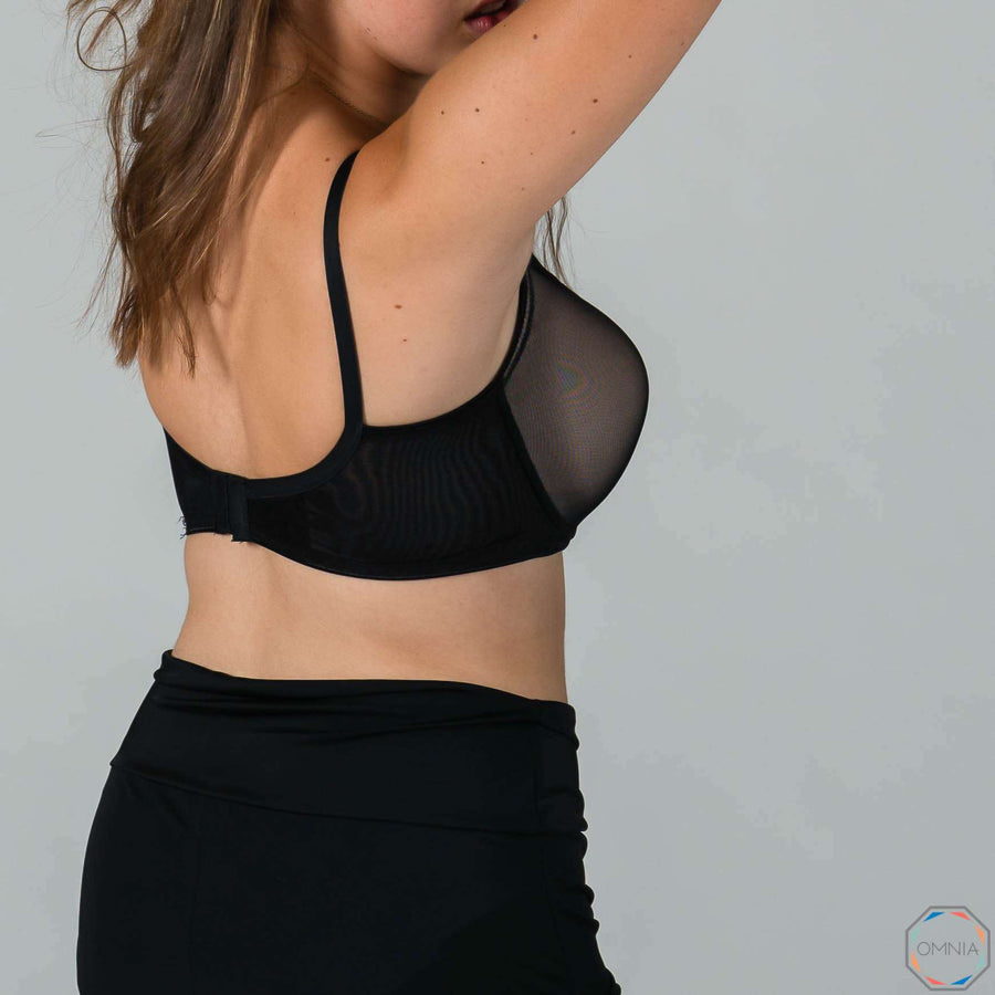 Citrine | New Mama T-Shirt FlexyWire Bra - Black