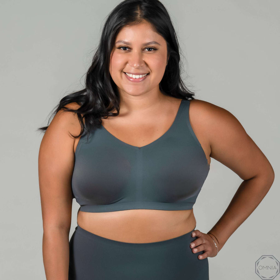 Lapis | Wirefree Bra - Granite