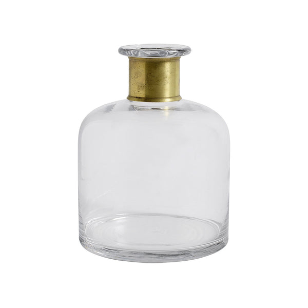 Large Ring Deco Bottle - Clear