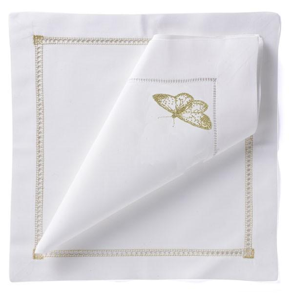 Butterfly Napkin - Gold