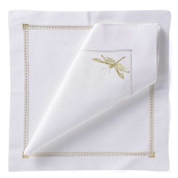 Dragonfly Napkin - Gold