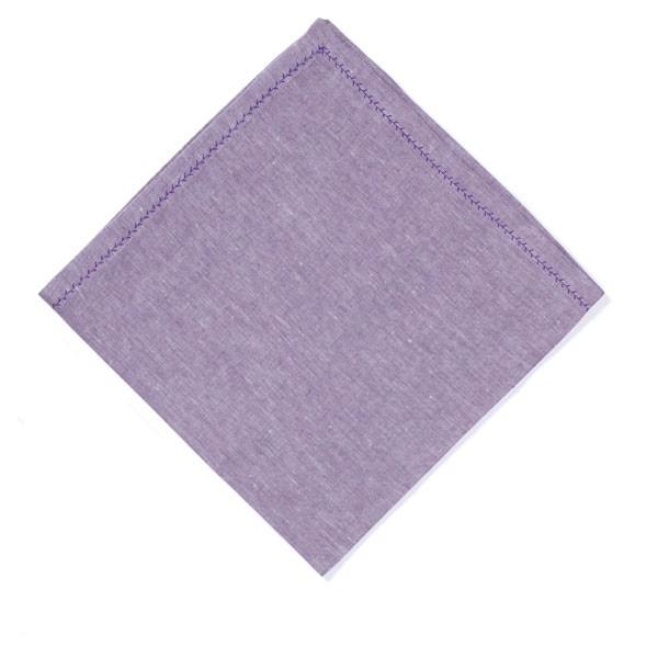 Feather Stitch Napkin - Amethyst
