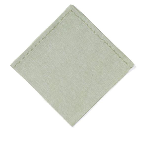 Feather Stitch Napkin - Peridot