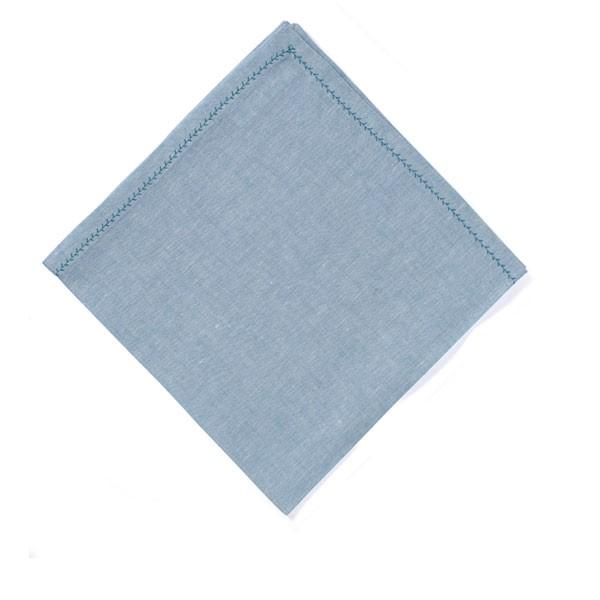 Feather Stitch Napkin - Aquamarine