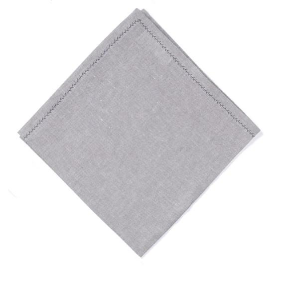 Feather Stitch Napkin - Grey