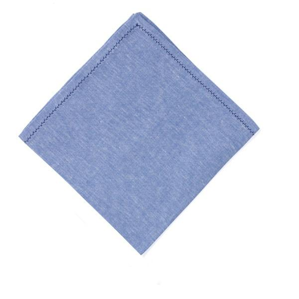 Feather Stitch Napkin - Blue