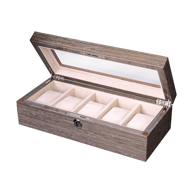 Wood 5 Watch Box - Grey
