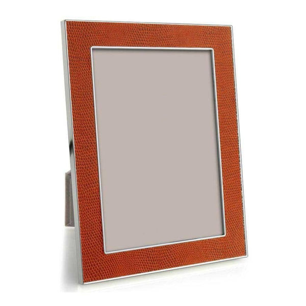 Frame 4X6 Faux Snake Orange
