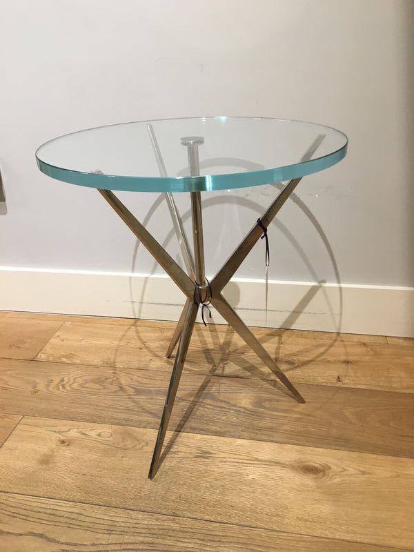 Arthur Circular End Table - showroom stock