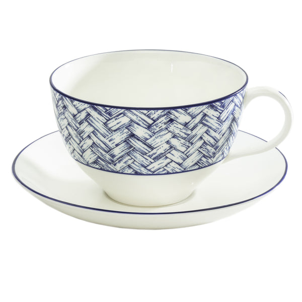 Basket Weave Breakfast Cup & Saucer