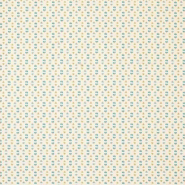 Claribel Biron Ivory/Teal/Green Fabric - NCF4284-03