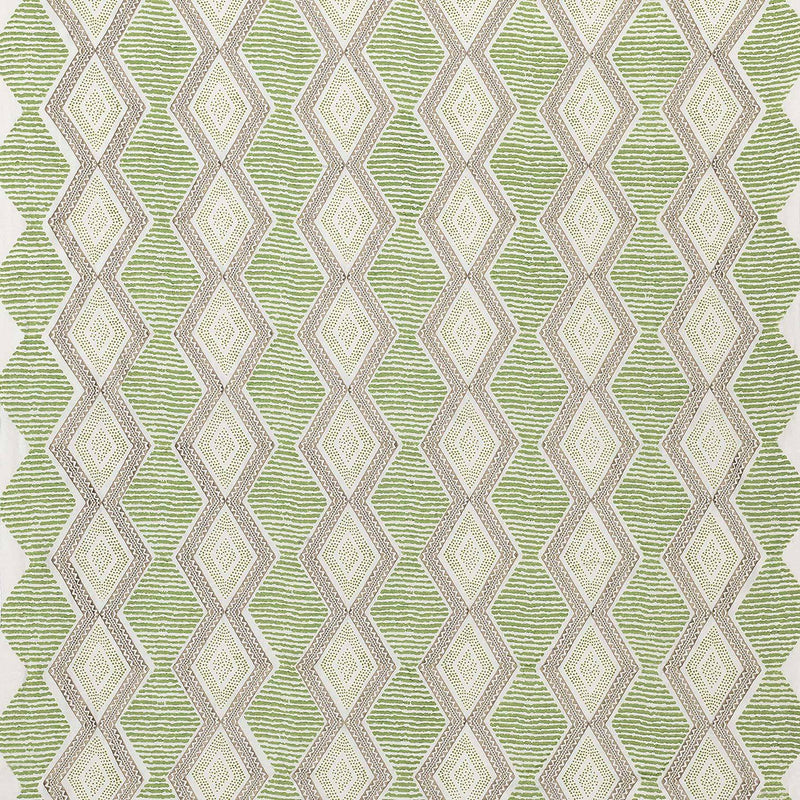 Les Rêves Belle Île Green/Beige Fabric - NCF4291-03