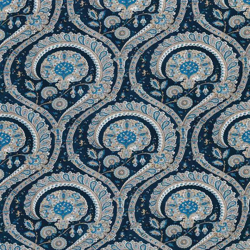 Les Indiennes Blue Fabric - NCF4330-05