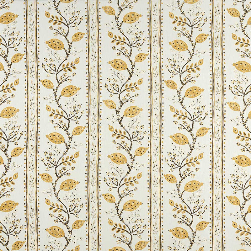 Ashdown Pomegranate Trail Ochre/Ivory Fabric - NCF4360-03
