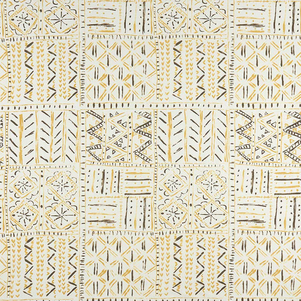 Ashdown Cloisters Ochre/Tobacco/Ivory Fabric - NCF4361-03