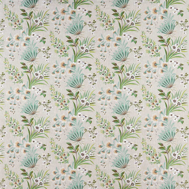 Ashdown Michelham Aqua/Green Fabric - NCF4362-01