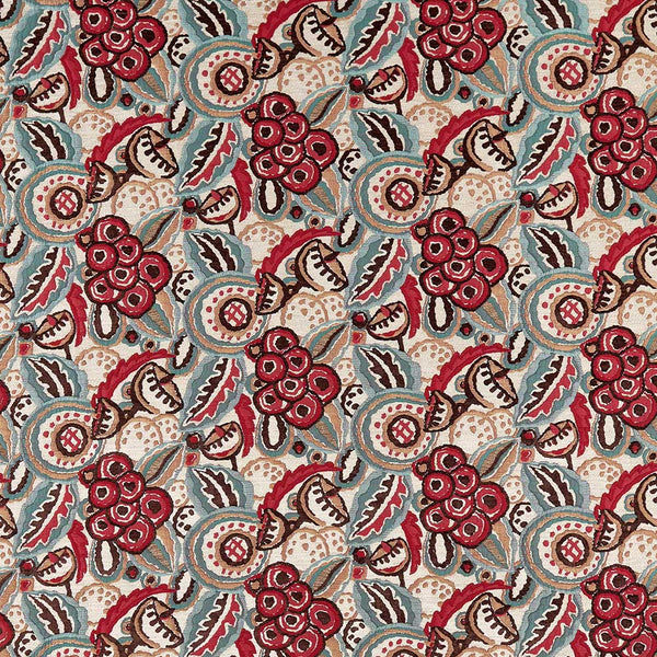 Marchmain Red/Teal Fabric - NCF4370-01