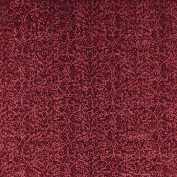 Marchmain Brideshead Damask Red Fabric - NCF4372-01