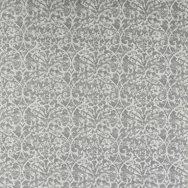 Marchmain Brideshead Damask Grey Fabric - NCF4372-03