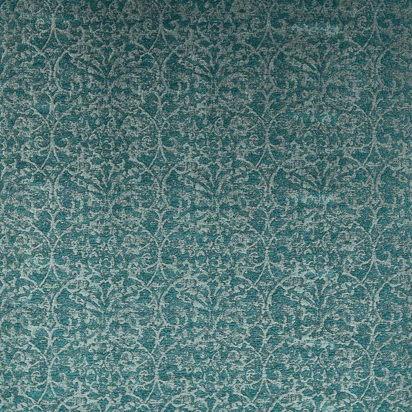 Marchmain Brideshead Damask Teal Fabric - NCF4372-04