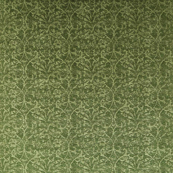 Marchmain Brideshead Damask Green Fabric - NCF4372-06
