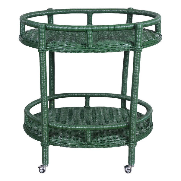 Oval Bar Cart - Green