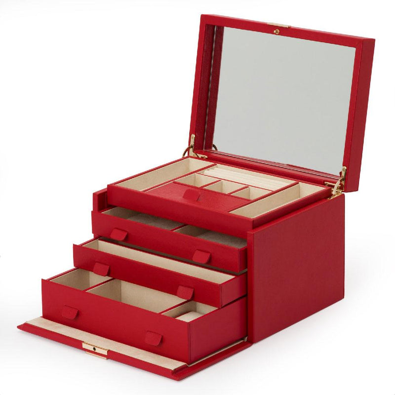 Palermo Large Jewellery Box - Red